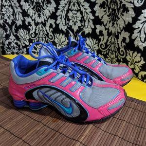 Nike Shox Navina Size 8 Wolf grey Sport turquoise